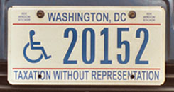 c.2002 base Handicapped Person plate no. 20152