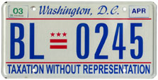2000 Passenger plate no. BL-0245 validated for 2002-03 (exp. April 2003)