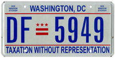 Plate no. DF-5949, issued c.April 2009