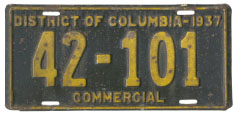 1937 Commercial plate no. 42-101