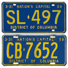 1957 Passenger (top) and Commercial plates