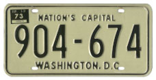 1968 (exp. 3-31-69) Passenger plate no. 904-674 validated for 1972 (exp. 3-31-73)