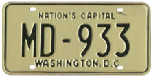 1968 (exp. 3-31-69) Medical Doctor plate no. 933