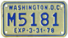 1977 motorcycle plate no. M5181