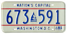 1980 general-issue passenger car plate no. 673-591