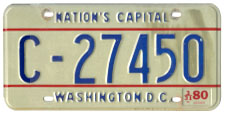 1978 base commercial plate no. C-27450