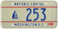 1978 base reserved passenger plate no. 253