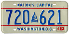 1981 general-issue passenger car plate no. 720-621