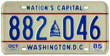 1984 general-issue passenger car plate no. 882-046