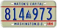 1983 general-issue passenger car plate no. 814-973