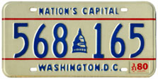 1979 general-issue passenger car plate no. 568-165