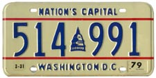 1978 general-issue passenger car plate no. 514-991