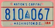 1978 plate no. 810-067 with 3/31/84 sticker