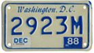 1984 base motorcycle plate no. 2923M