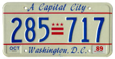 1984 base passenger plate no. 285-717