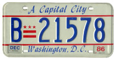 1984 base bus plate no. B-21578