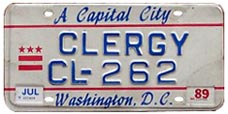 1984 base clergy plate no. CL-262