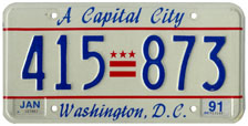 1990 general-issue passenger car plate no. 415-873