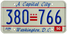 1989 general-issue passenger car plate no. 380-766