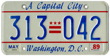 1988 general-issue passenger car plate no. 313-042