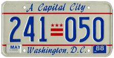 1987 general-issue passenger car plate no. 241-050