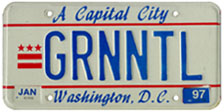 1984 base personalized plate no. GRNNTL