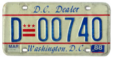 1984 base dealer plate no. D-00740