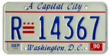 1984 base rental car plate no. R-14367