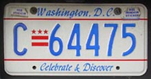 1997 base Commercial (Truck) plate no. C-64475