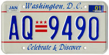Plate no. AQ-9490, issued Jan. 2000