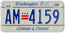 Plate no. AM-4159, issued June 1999