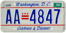 Plate no. AA-4847, issued June 1997