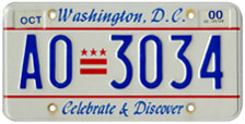 Plate no. AO-3034, issued Oct. 1999
