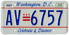 Plate no. AV-6757, issued May 2000