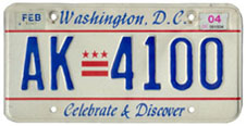 Plate no. AK-4100, issued Feb. 1999