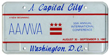 1987 AAMVA International Conference special event plate
