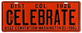 1980 A.S.A.E. Convention special event plate