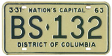 1962 Sightseeing Bus plate no. BS-132
