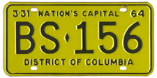 1963 Sightseeing Bus plate no. BS-156