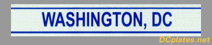 Portion of a 2006 Washington, D.C. license plate; link to site home page.