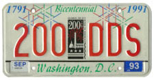 City Bicentennial plate no. 200-DDS