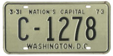 1972 Commercial (Truck) plate no. C-1278