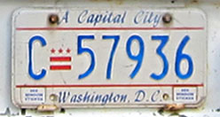 1984 Commercial plate no. C-57936