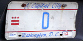 1984 Personalized plate no. D
