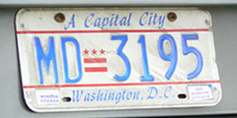 1984 Medical Doctor plate no. MD-3195
