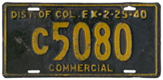 1939 Commercial (Truck) plate no. C5080