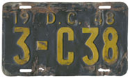 1948 Commercial plate no. 3-C38