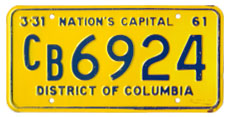1960 (exp. 3-31-61) Commercial plate no. CB6924
