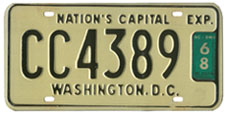 1965 (undated variety) Commercial (Truck) plate no. CC4389 validated for 1967