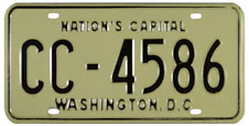Natural 1968 style of 1965 Commercial (Truck) plate no. CC-4586